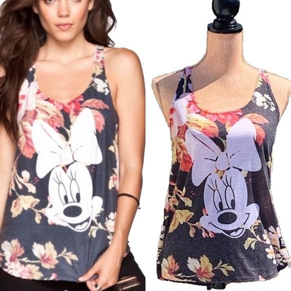 ☀️4/25 Neff Minnie Mouse Floral-Print Tank